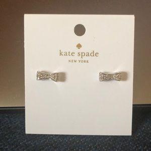 Kate Spade Silver Bow Stud Earrings